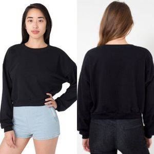 American Apparel California Fleece Crop Sweatshirt